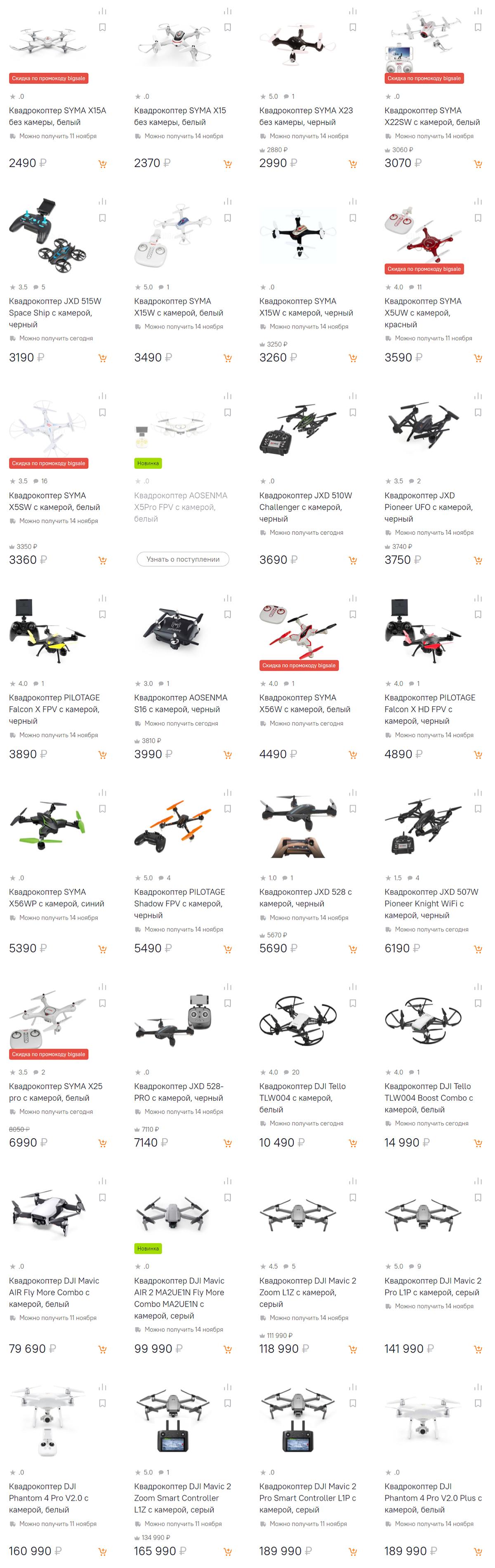 Интернет-магазин Ситилинк Кяхта: Квадрокоптеры