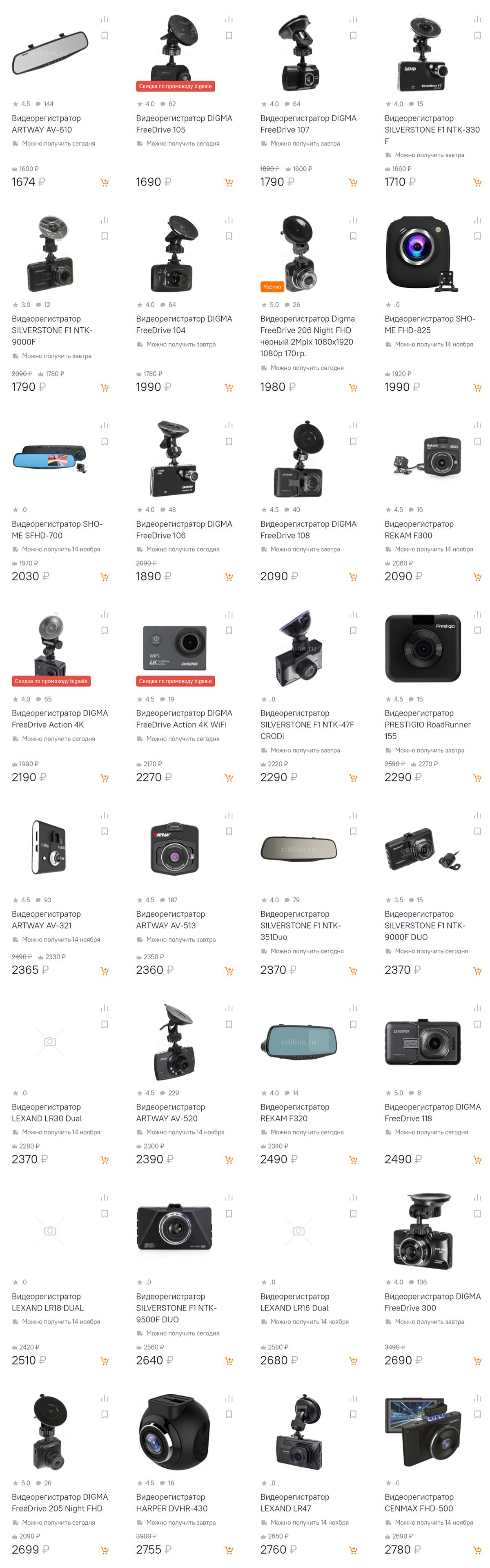 Интернет-магазин Ситилинк Кяхта: Видеорегистраторы